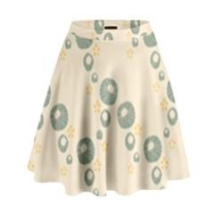 Flower Floral Pink High Waist Skirt by Alisyart