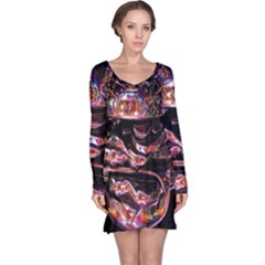 Hamburgers Digital Art Colorful Long Sleeve Nightdress