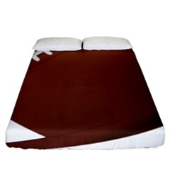 Football American Sport Ball Fitted Sheet (king Size) by Alisyart
