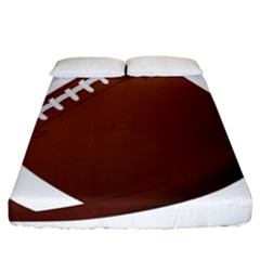 Football American Sport Ball Fitted Sheet (california King Size) by Alisyart