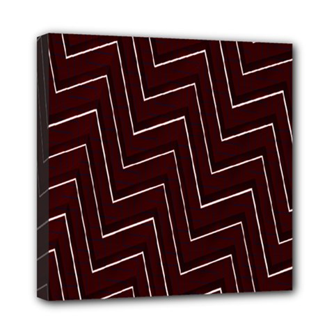 Lines Pattern Square Blocky Mini Canvas 8  X 8  by Simbadda