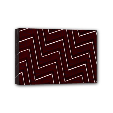 Lines Pattern Square Blocky Mini Canvas 6  X 4  by Simbadda