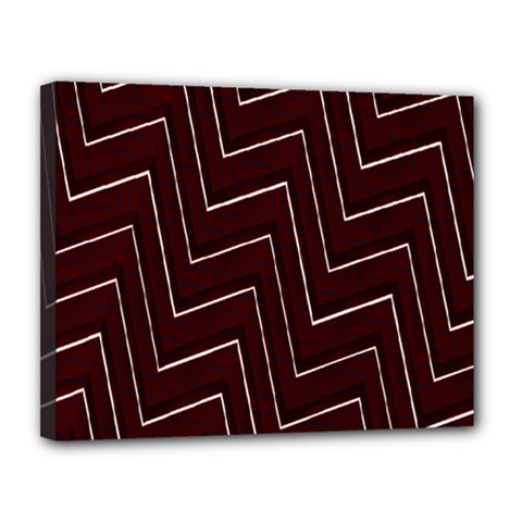 Lines Pattern Square Blocky Canvas 14  X 11  by Simbadda