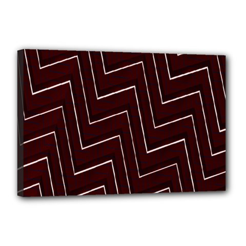 Lines Pattern Square Blocky Canvas 18  X 12  by Simbadda