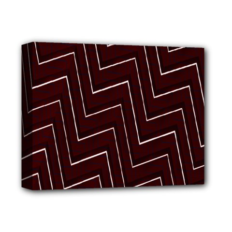 Lines Pattern Square Blocky Deluxe Canvas 14  X 11  by Simbadda