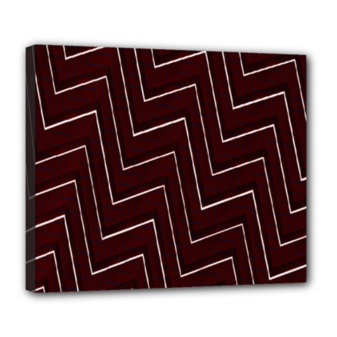 Lines Pattern Square Blocky Deluxe Canvas 24  X 20   by Simbadda