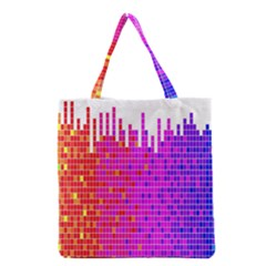 Square Spectrum Abstract Grocery Tote Bag by Simbadda