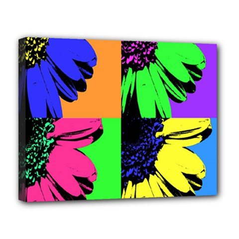 Flower Pop Sunflower Canvas 14  X 11  by Alisyart