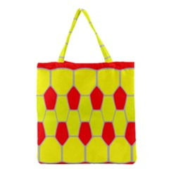 Football Blender Image Map Red Yellow Sport Grocery Tote Bag by Alisyart