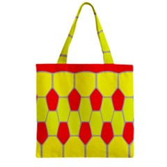 Football Blender Image Map Red Yellow Sport Zipper Grocery Tote Bag by Alisyart