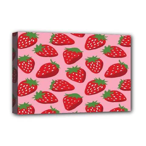 Fruit Strawbery Red Sweet Fres Deluxe Canvas 18  X 12   by Alisyart