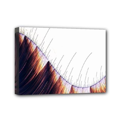 Abstract Lines Mini Canvas 7  X 5  by Simbadda