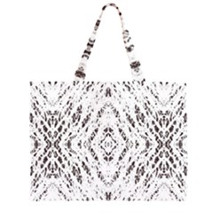 Pattern Monochrome Terrazzo Large Tote Bag by Simbadda