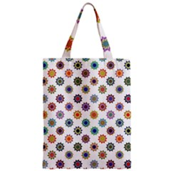 Flowers Color Artwork Vintage Modern Star Lotus Sunflower Floral Rainbow Zipper Classic Tote Bag by Alisyart
