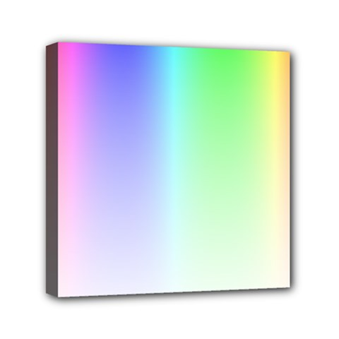 Layer Light Rays Rainbow Pink Purple Green Blue Mini Canvas 6  X 6  by Alisyart