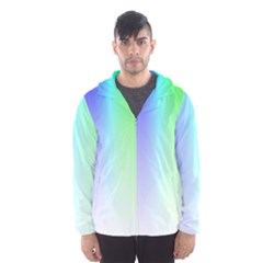 Layer Light Rays Rainbow Pink Purple Green Blue Hooded Wind Breaker (men) by Alisyart