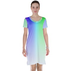 Layer Light Rays Rainbow Pink Purple Green Blue Short Sleeve Nightdress by Alisyart