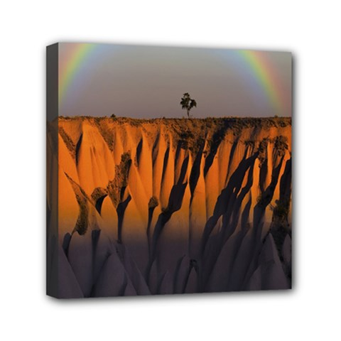 Rainbows Landscape Nature Mini Canvas 6  X 6  by Simbadda