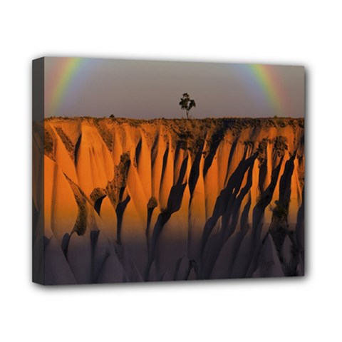 Rainbows Landscape Nature Canvas 10  X 8  by Simbadda