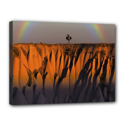 Rainbows Landscape Nature Canvas 16  X 12