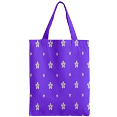 Light Purple Flowers Background Images Zipper Classic Tote Bag by Alisyart