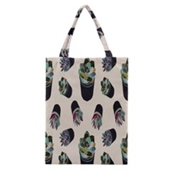 Succulent Plants Pattern Lights Classic Tote Bag by Simbadda