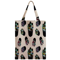 Succulent Plants Pattern Lights Zipper Classic Tote Bag by Simbadda
