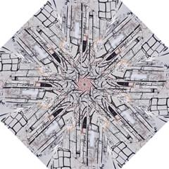Cityscapes England London Europe United Kingdom Artwork Drawings Traditional Art Hook Handle Umbrellas (medium) by Simbadda