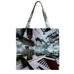 Digital Art Paint In Water Zipper Grocery Tote Bag