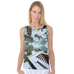 Digital Art Paint In Water Women s Basketball Tank Top