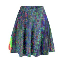 Glitch Art High Waist Skirt by Simbadda