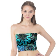 Sun Set Floral Tube Top