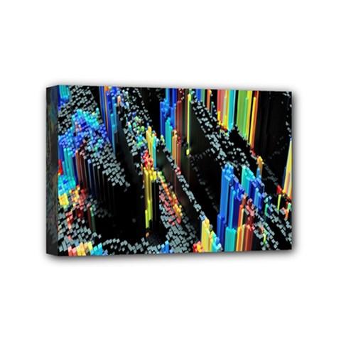 Abstract 3d Blender Colorful Mini Canvas 6  X 4  by Simbadda