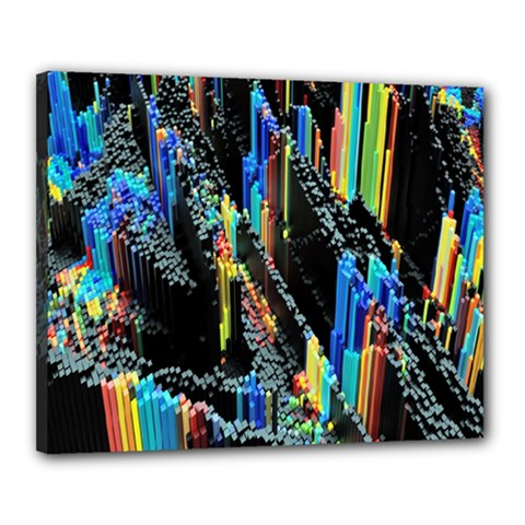 Abstract 3d Blender Colorful Canvas 20  X 16  by Simbadda