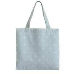 Mages Pinterest White Blue Polka Dots Crafting  Circle Grocery Tote Bag by Alisyart