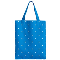 Mages Pinterest White Blue Polka Dots Crafting Circle Zipper Classic Tote Bag by Alisyart