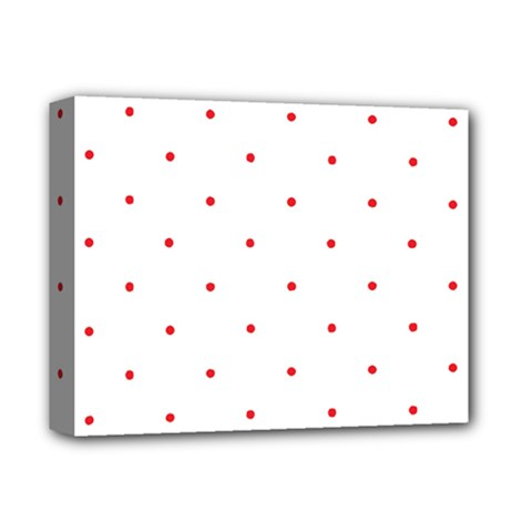 Mages Pinterest White Red Polka Dots Crafting Circle Deluxe Canvas 14  X 11  by Alisyart