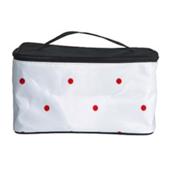 Mages Pinterest White Red Polka Dots Crafting Circle Cosmetic Storage Case by Alisyart