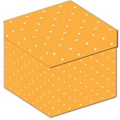 Mages Pinterest White Orange Polka Dots Crafting Storage Stool 12   by Alisyart