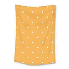 Mages Pinterest White Orange Polka Dots Crafting Small Tapestry by Alisyart