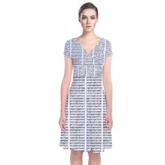 Methods Compositions Detection Of Microorganisms Cells Short Sleeve Front Wrap Dress