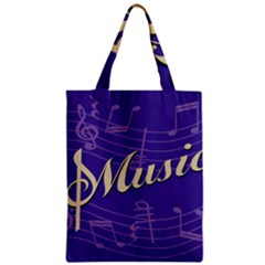 Music Flyer Purple Note Blue Tone Classic Tote Bag by Alisyart
