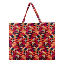 Modern Graphic Zipper Large Tote Bag by Alisyart