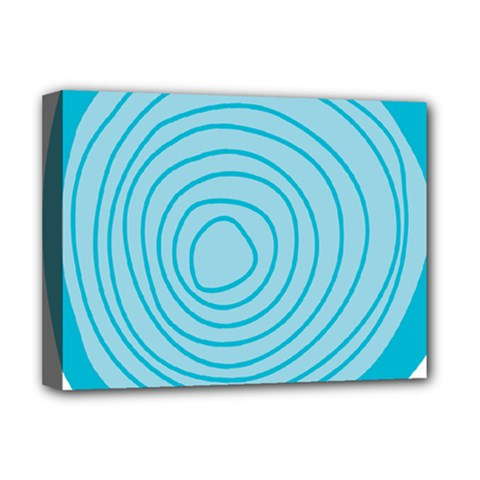 Mustard Logo Hole Circle Linr Blue Deluxe Canvas 16  X 12   by Alisyart