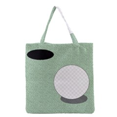 Golf Image Ball Hole Black Green Grocery Tote Bag by Alisyart