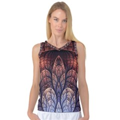 Abstract Fractal Women s Basketball Tank Top