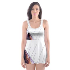 Abstract Lines Skater Dress Swimsuit by Simbadda