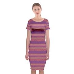Lines Classic Short Sleeve Midi Dress