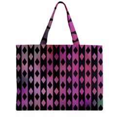 Old Version Plaid Triangle Chevron Wave Line Cplor  Purple Black Pink Zipper Mini Tote Bag by Alisyart