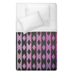 Old Version Plaid Triangle Chevron Wave Line Cplor  Purple Black Pink Duvet Cover (single Size) by Alisyart